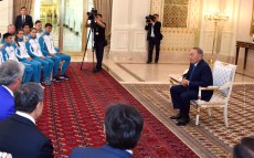 Meeting with Kazakhstan's sports delegation, taking part in the 5th Asian Indoor Games and Martial Arts