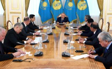 Reception of delegation leaders, who arrived in Astana for the 12th Meeting of the SCO Security Councils' Secretaries