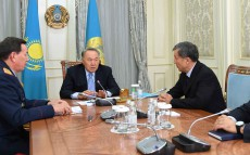 Meeting with Karim Massimov, National Security Committee Chairman, and Kalmukhanbet Kassymov, Interior Minister