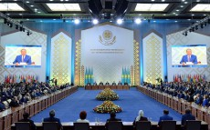 Participation in the solemn meeting devoted to the 550th anniversary of the Kazakh Khanate